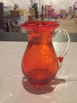 Reduced! Small Glass Orange Pitcher in Joliet, Illinois