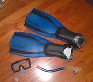 Two Sets scuba gear - snorkels, mask and fins in Camp Lejeune, North Carolina