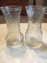 2 Clear Hoosier Glass Vases in Fort Campbell, Kentucky