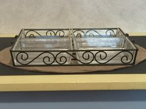 Decorative Sectioned Serving Tray w/Handles in Chicago, Illinois
