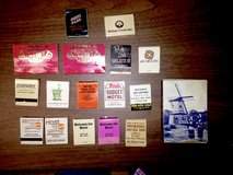 35 Vintage Matchbooks from various places in Aurora, Illinois