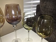 3 Colorful Wine Glasses in Chicago, Illinois