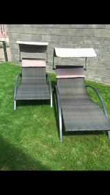 2 new rattan beds for the garden in Ramstein, Germany