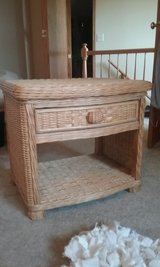 Natural wicker nightstand/end table in Oswego, Illinois