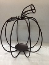 Rod Iron Pumpkin Candle Holder in The Woodlands, Texas