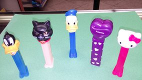 Pez Dispensers.  Some vintage in Yucca Valley, California