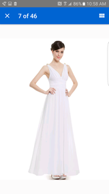 Simple White Wedding Gown in Travis AFB, California