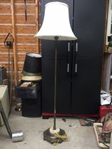 Vintage Floor Lamp Marble and Cast Iron base in Cochran, Georgia