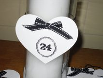wedding table numbers in Naperville, Illinois