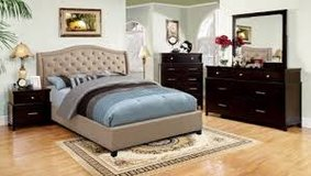 TAUPE COLORED TUFTED BED in Fort Irwin, California