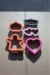 HOLLOWEEN AND HEART COOKIE CUTTERS ( 5 PCS. ) in Aurora, Illinois
