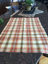 Red / Gold / Green Plaid Table Runner in Naperville, Illinois