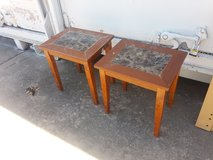 Two end tables in Fort Riley, Kansas