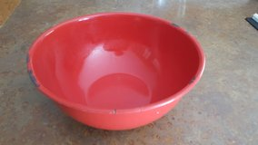 Large red enamel mixing bowl in Joliet, Illinois