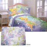 Tinkerbell Twin  Bedding Comforter/Sheet Set x2 in Aurora, Illinois