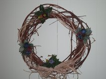 "22"" natural look wreath in Chicago, Illinois"