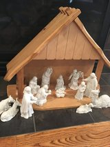 13 piece Avon collectibles Nativity set & stable in Chicago, Illinois