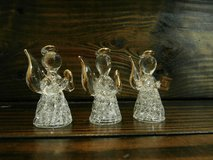 Set of 3 mini spun glass angels in Cleveland, Texas