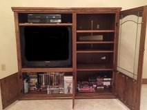 Free for pick up! Solid Oak Entertainment Center in Orland Park, Illinois