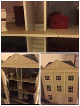Wood play house/with wood furniture. in Lawton, Oklahoma