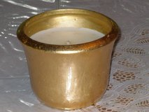 candle in gold pot 3-1/2h x 4-1/2w in Lockport, Illinois