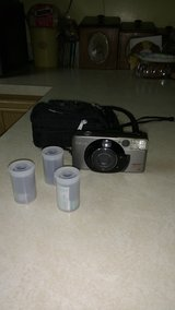 Canon 35 millimeter camera with 3 roles of film in Yorkville, Illinois