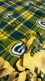 Fleece tied Football Throw Blanket GB in Tinley Park, Illinois