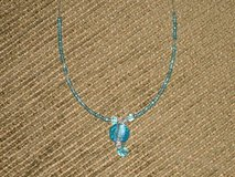 "new 15"" blue bead necklace in Glendale Heights, Illinois"