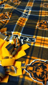 Fleece tied Football Throw Blanket CB in Tinley Park, Illinois