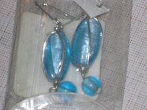 new blue oval earrings in Chicago, Illinois