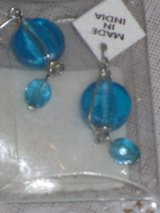 new round blue earrings in Naperville, Illinois