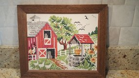 Cross Stitch Farm Scene in Bolingbrook, Illinois