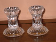 "mikasa crystal ""jubilation"" candlesticks 3"" in Chicago, Illinois"