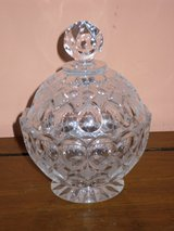 """crystal candy dish w/lid 6""""h in Lockport, Illinois"""