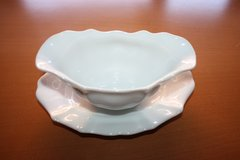 White Bavarian porcelain Boat Gravy Dish in Ramstein, Germany