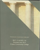 Business Law 1&2 BUS 115 & BUS 116 Textbook Craven Community College $10 in Cherry Point, North Carolina