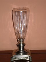 crystal vase on silver metal base in Oswego, Illinois