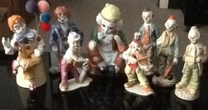 Collection of Clown Figurines in Warner Robins, Georgia