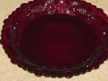 """2 vintage glass cape cod ruby 7-1/2""""plates in Lockport, Illinois"""