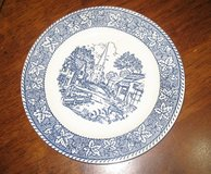 """5 Plates Homer Laughlin 7 1/4"""" Shakespeare Country Blue Pattern Stratwood Collection Blue in Kingwood, Texas"""