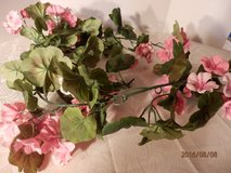 "Pink Geranium Garland Approx. 70"" in Joliet, Illinois"