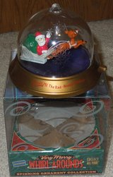 Blockbuster Very Merry Whirl Around Spinning Ornament - Rudolph 1999 in Chicago, Illinois