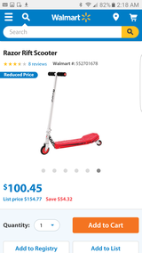 Razor Rift caster scooter red new in Chicago, Illinois