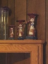 Snowman candle holders in Fort Campbell, Kentucky