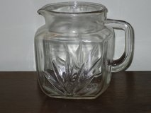 1940s federal glass sunburst pitcher in Plainfield, Illinois