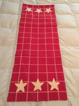 (NEW) Cranberry/Tan Runner w/Stars in Yorkville, Illinois