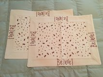 """(NEW) Cream/Red Placemats w/""""Believe"""" & Stars (set of 2) in Yorkville, Illinois"""