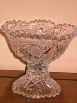 vintage crystal candy/nut dish in Naperville, Illinois