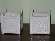 "cute 3""x3"" ceramic planters in Bolingbrook, Illinois"