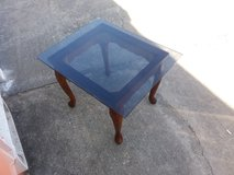 Small glass top table in Fort Riley, Kansas
